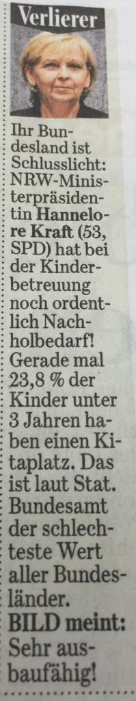 Kraft Verlierer des Tages, BILD, 21.2.2015